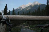 Alonna's bike and a nice view