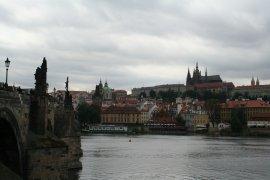 Chargles Bridge and Prague Castle
