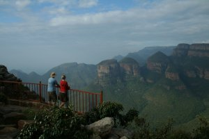 Enjoying the view at Blyde River Canyon