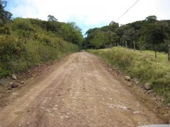 Rough road out of Santa Elena