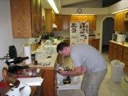 Ben installing cabinet knobs