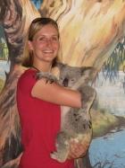 Alonna holding a koala - so cuddly!