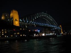 Harbor Bridge at night