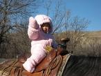 Liese riding a horse
